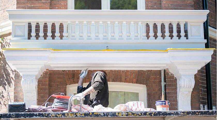 14 Batjanstraat 32 schilderwerk bij renovatie balkonhek 1