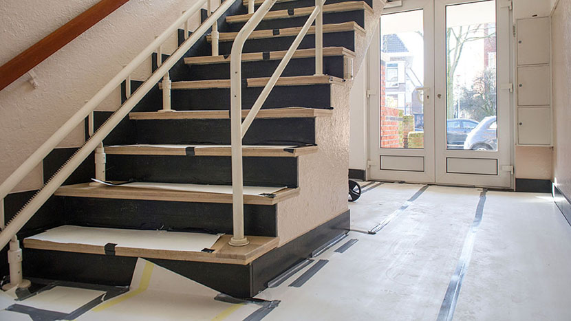 renovatie en schilderwerk trappenhuis prins mauritslaan