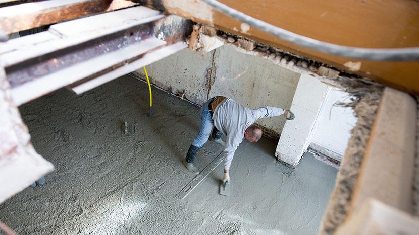 afsmeren nieuwe betonvloer laan copes van cattenburch