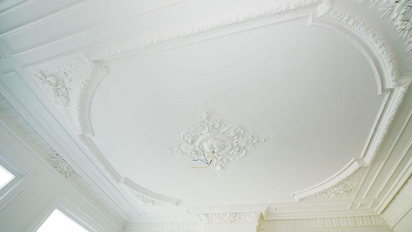 restauratie van plafond laan copes van cattenburch