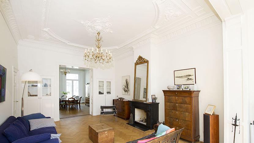resultaat renovatie woonkamer laan copes van cattenburch