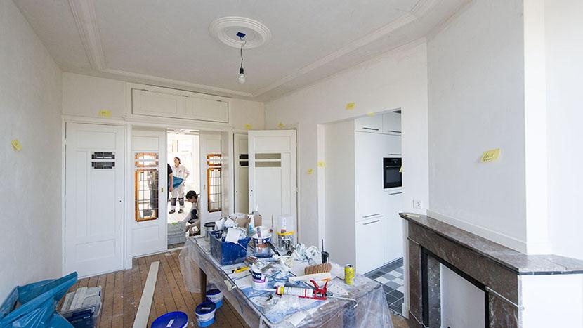 kleurcodering op wanden woonhuis merkusstraat