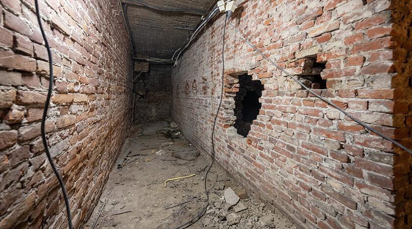 Gentsestraat 151 ongebruikte kelderruimte