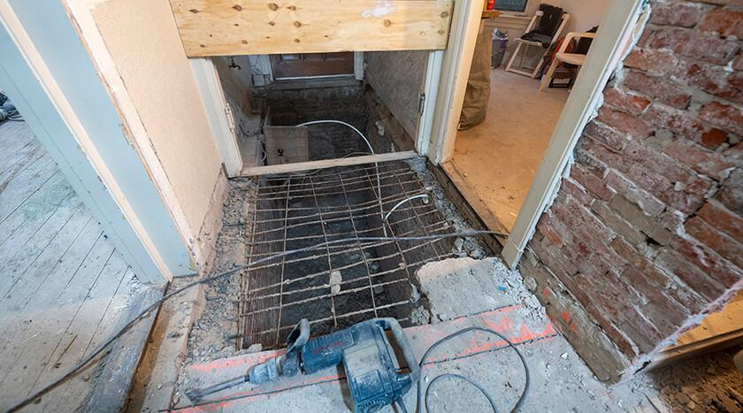Gentsestraat 151 verwijderen originele terazzovloer